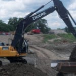 Earthmovers excavator