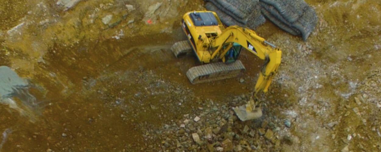 aggregate material yard